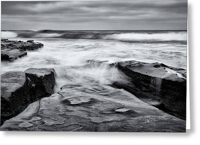 Rocky Shores Greeting Card by Doug Oglesby