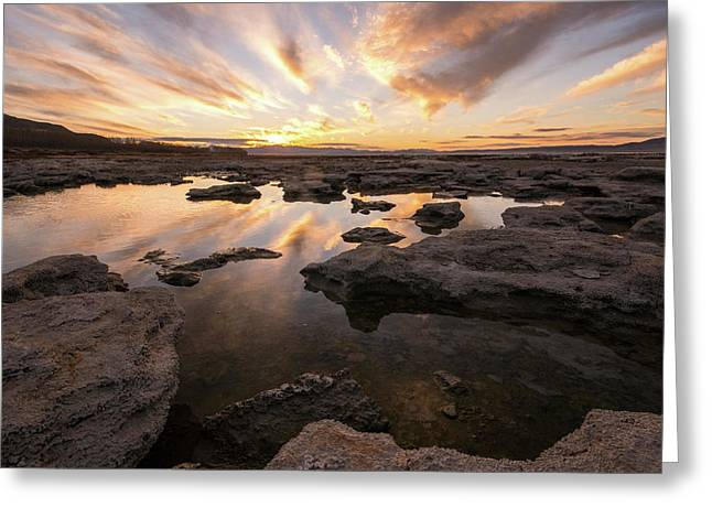 Rocky Shores Of Utah Lake Greeting Card