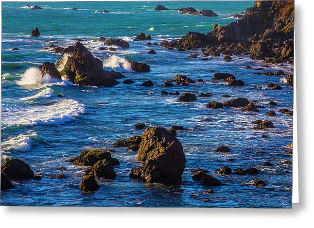 Rocky Sonoma Coast Greeting Card