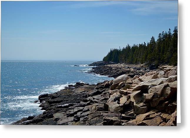 Rocky Summer Shore Greeting Card