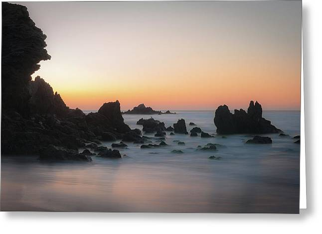 Rocky Sunrise Greeting Card by Ralph Vazquez