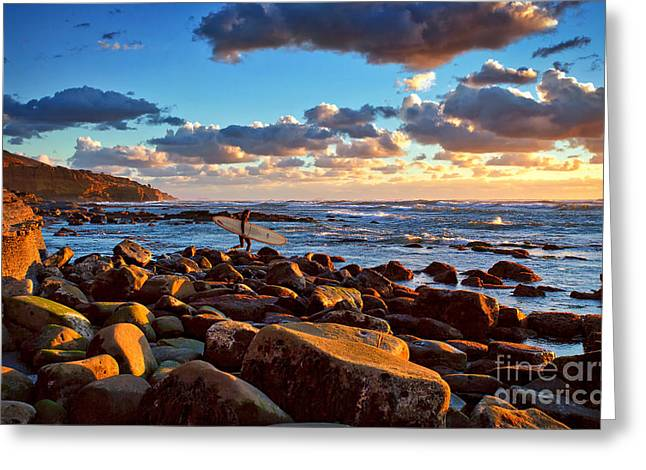 Rocky Surf Conditions Greeting Card