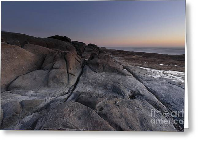Rocky Terrain By The Ocean Greeting Card