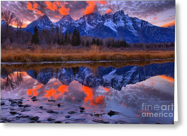 Rocky Teton Reflections Greeting Card