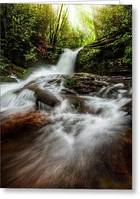 Rocky Tumble Greeting Card by Debra and Dave Vanderlaan