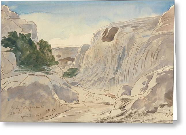 Rocky Valley Of Mosta, Malta, Two-fifteen P.m. Greeting Card
