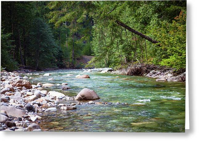 Rocky Waters In The North Cascades Landscape Photography By Omas Greeting Card