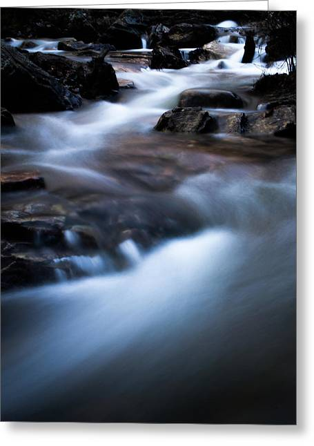 Rocky Winter Stream Greeting Card