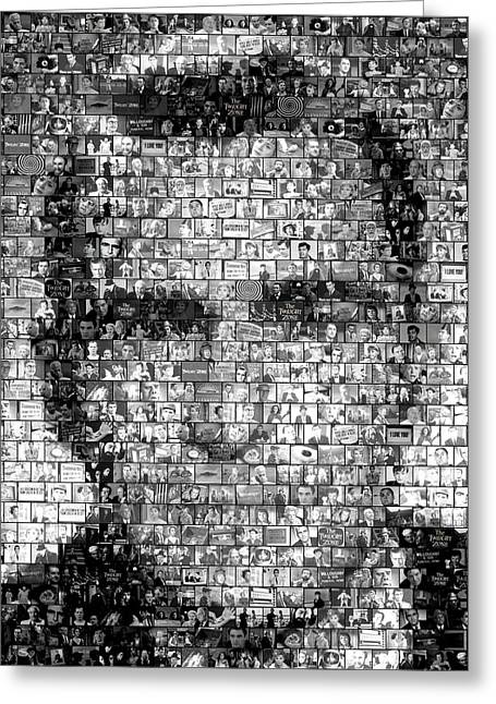Classic Mixed Media Greeting Cards - Rod Serling Twilight Zone Mosaic Greeting Card by Paul Van Scott
