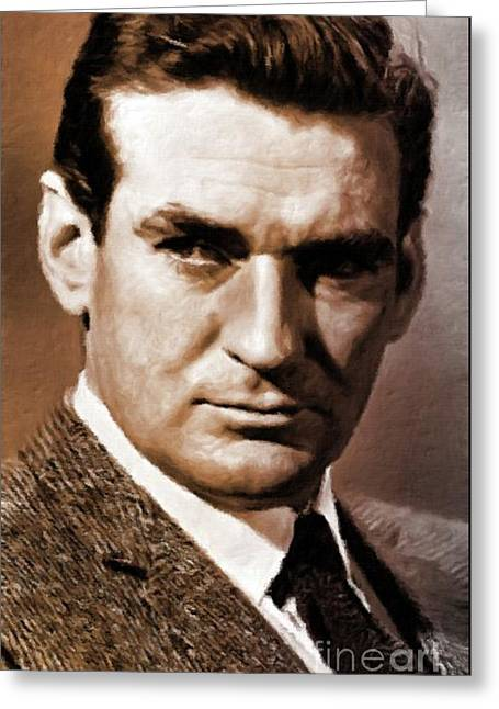 Rod Taylor, Actor Greeting Card by Mary Bassett