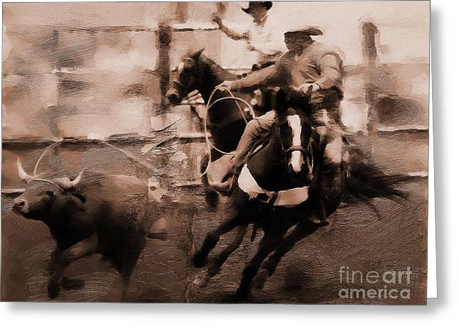 Rodeo 000673 Greeting Card by Gull G