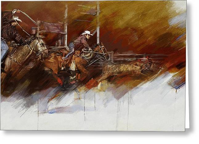 Rodeo 36 Greeting Card by Maryam Mughal