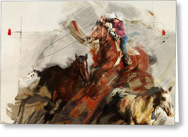 Rodeo 37 Greeting Card by Maryam Mughal