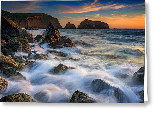 Rodeo Beach Greeting Card by Rick Berk