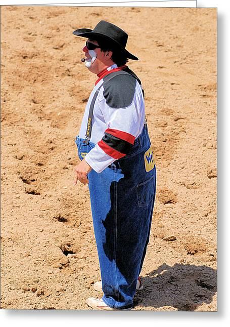 Rodeo Clowns Greeting Card by Cheryl Poland