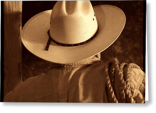 Rodeo Cowboy Greeting Card by American West Legend By Olivier Le Queinec