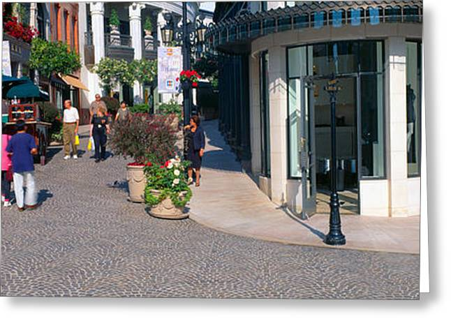 Rodeo Drive, Beverly Hills, California Greeting Card by Panoramic Images