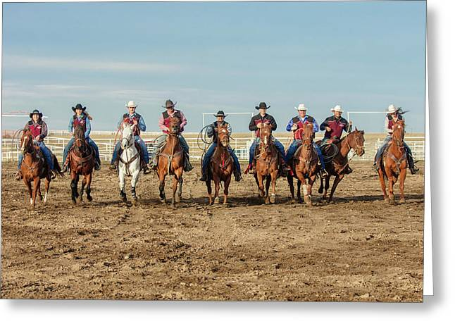 Rodeo Team Riders Greeting Card