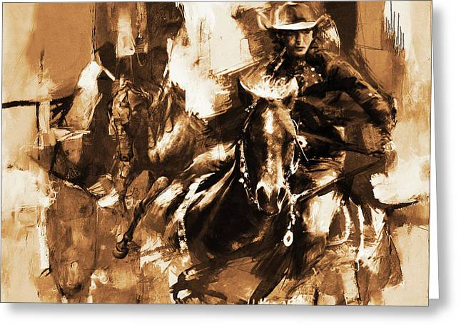 Rodeo Woman  Greeting Card