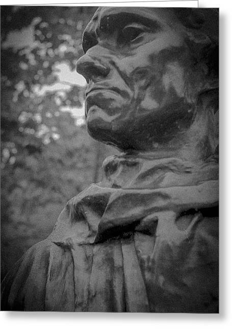 Greeting Card featuring the photograph Rodin Burgher - II by Samuel M Purvis III