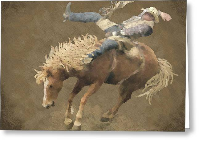 Rodeo Rider Greeting Card by Kathie Miller
