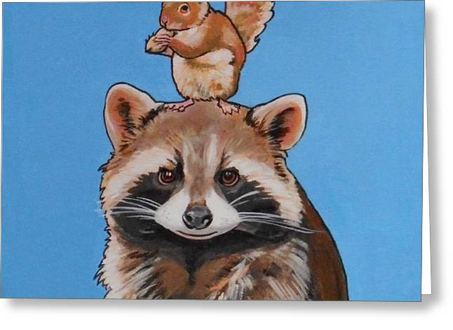 Rodney The Raccoon Greeting Card