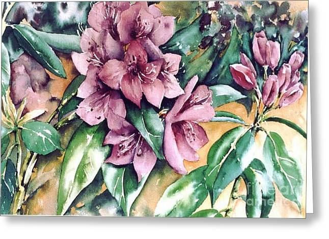 Rododendron Time Greeting Card by Marta Styk
