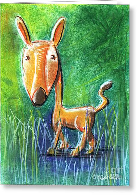 Roe Deer For Children Pastel Chalk Drawing Greeting Card