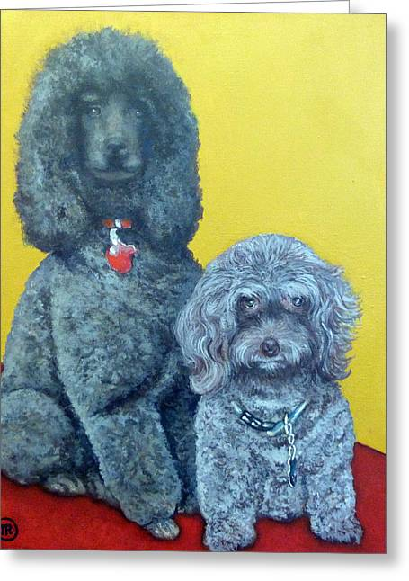 Roger And Bella Greeting Card by Tom Roderick