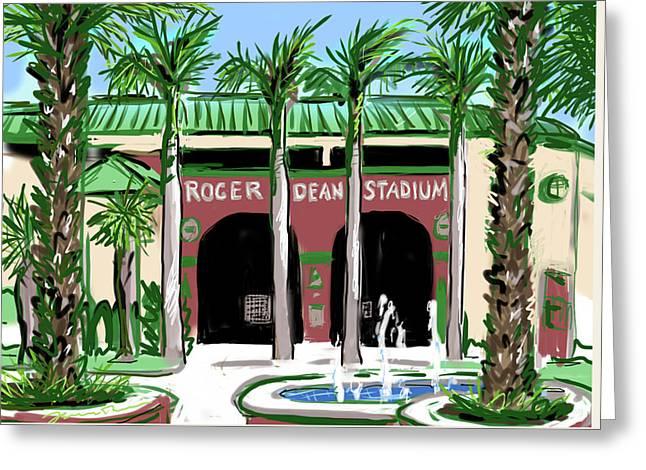 Roger Dean Stadium Greeting Card