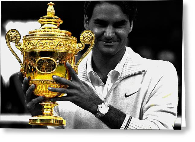 Roger Federer 2a Greeting Card by Brian Reaves