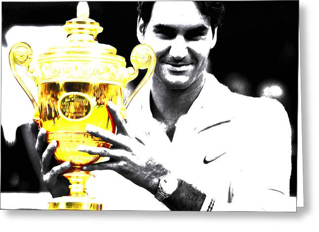 Roger Federer Greeting Card by Brian Reaves