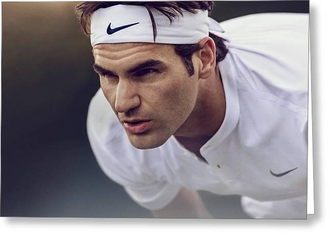 Roger Federer Wimbledon  Greeting Card