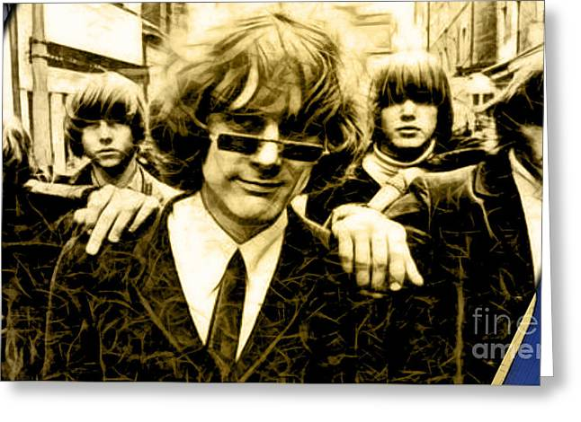 Roger Mcguinn The Byrds Collection Greeting Card by Marvin Blaine