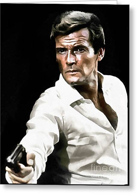 Roger Moore Greeting Card by Sergey Lukashin