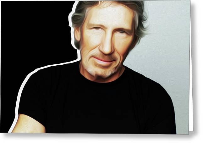 Roger Waters By Nixo Greeting Card by Nicholas Nixo