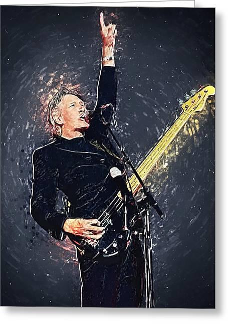 Roger Waters Greeting Card by Taylan Apukovska