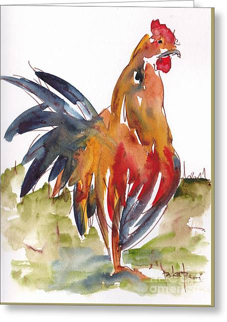 Rognonas Rooster Greeting Card