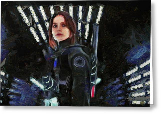 Rogue One Jyn Erso - Da Greeting Card by Leonardo Digenio