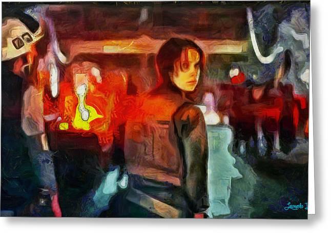 Rogue One Looking Back - Pa Greeting Card by Leonardo Digenio