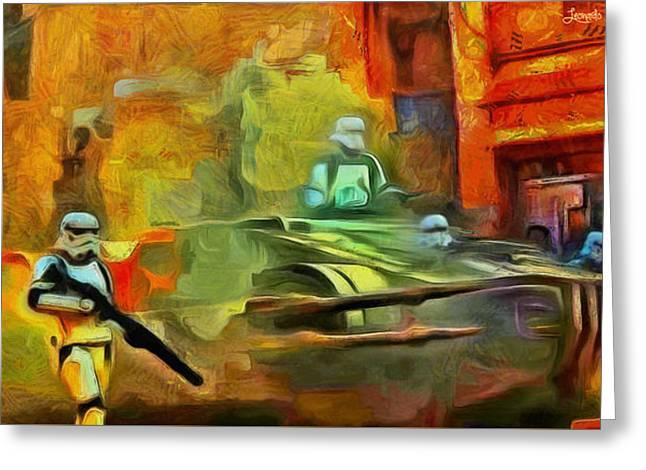 Rogue One Occupation - Da Greeting Card by Leonardo Digenio