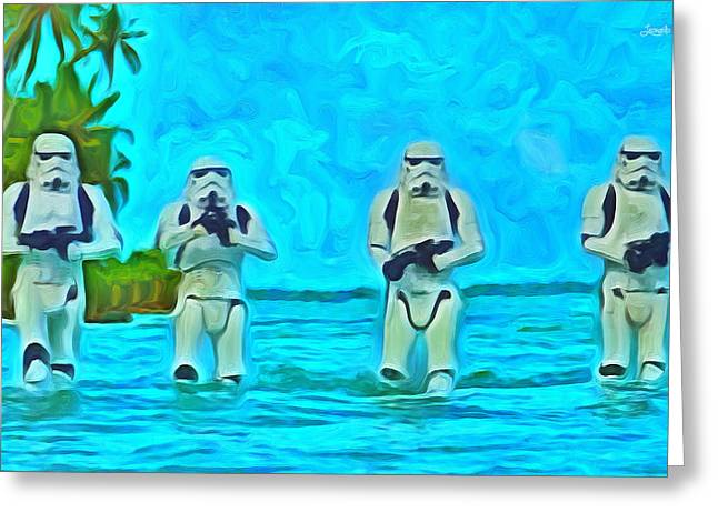 Rogue One Patrol In The Beaches - Pa Greeting Card
