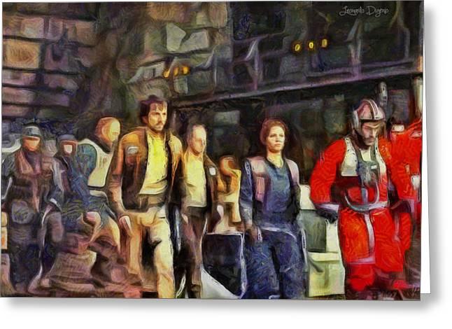Rogue One Preparing To Fiight - Pa Greeting Card by Leonardo Digenio