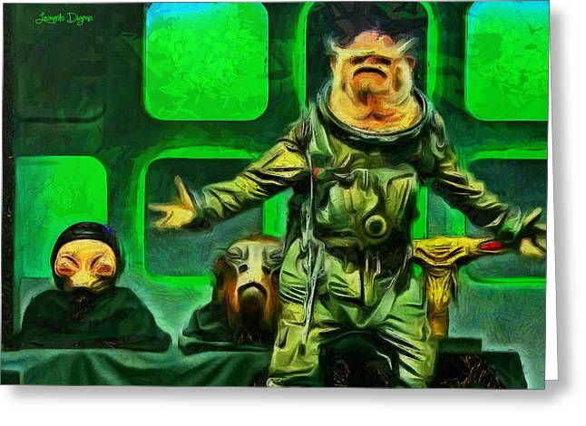 Rogue One Space Monkey - Pa Greeting Card by Leonardo Digenio