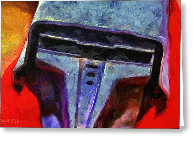 Rogue One Steel Helmet - Da Greeting Card by Leonardo Digenio