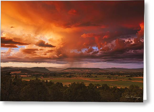 Rogue Valley Sunset Greeting Card
