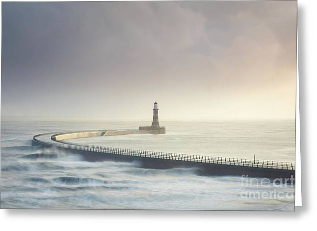 Roker Pier Greeting Card