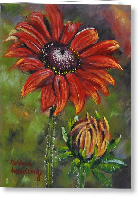 Gerber Daisy Pastels Greeting Cards - Role Model Greeting Card by Debbie Harding