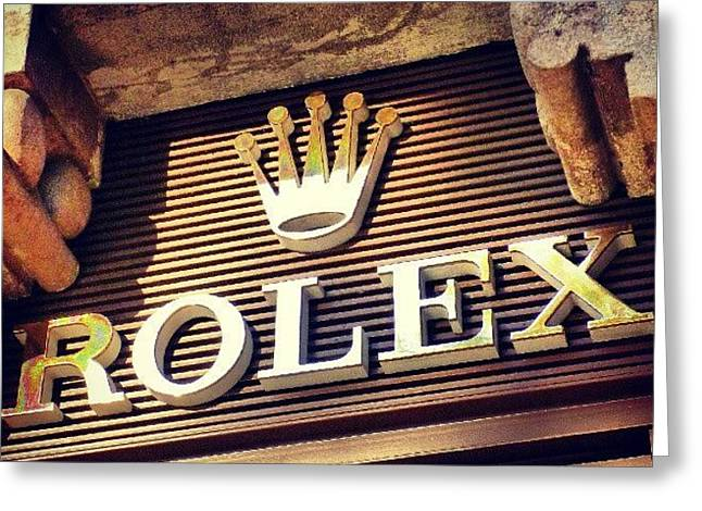 #rolex #watch #igdaily #android #ighub Greeting Card by Tommy Tjahjono