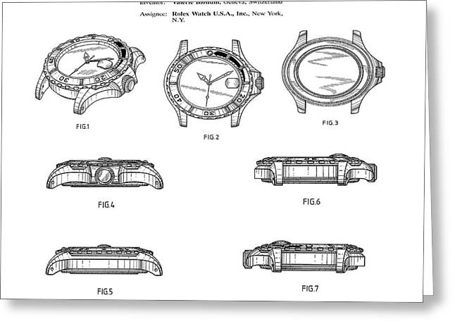 Rolex Watch Patent 1999 Greeting Card